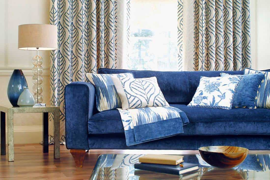 What Curtains Go With A Blue Couch Home Decor Bliss