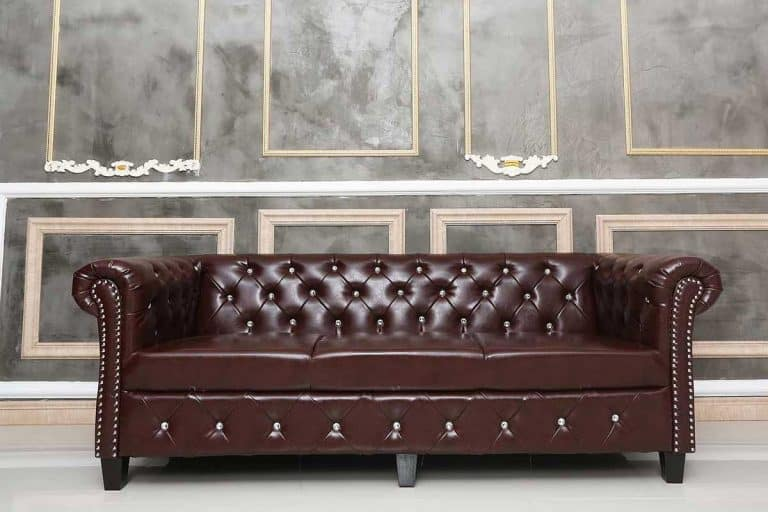 Brown leather sofa in the room, How To Clean Bonded Leather Sofa