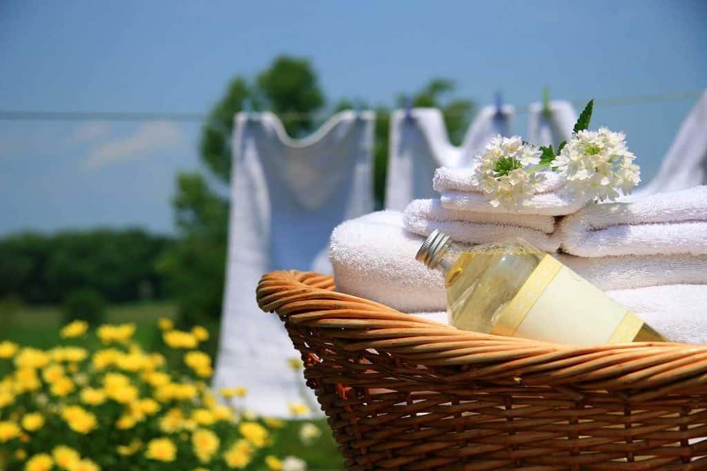 Clean towels freshly folded