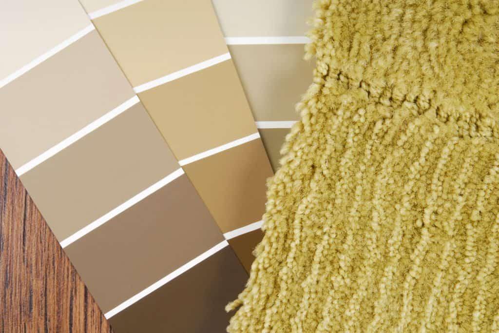 Color palettes for choosing a carpet