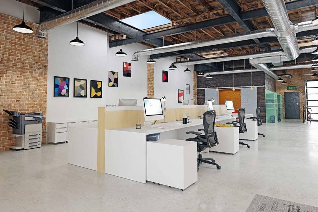 Contemporary loft office interior
