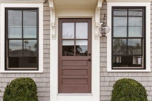 What Color Door Goes With Brown Windows?