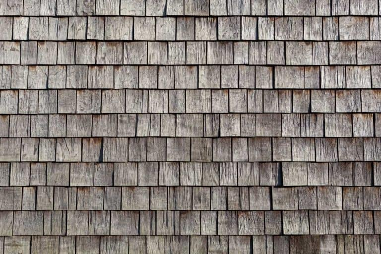 Gray wooden shingles at the roof, How To Clean Wood Shingles [7 Steps]