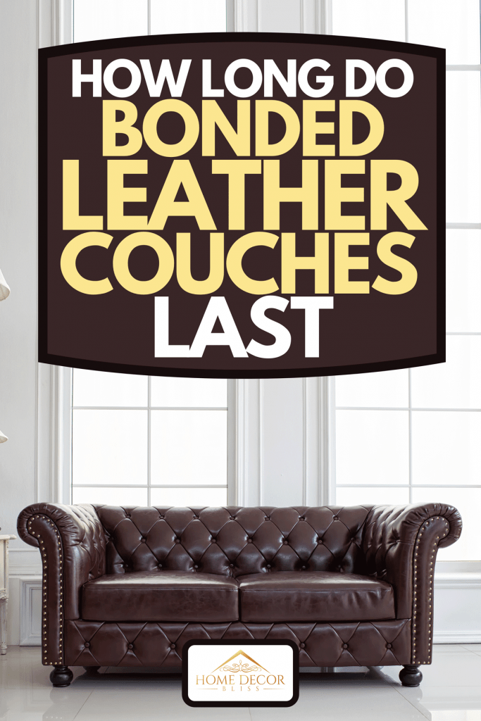 Vintage style of interior decoration the leather sofa in white room, How Long Do Bonded Leather Couches Last