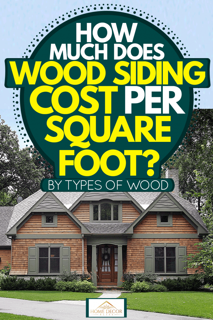 Huge two storey mansion with wooden sidings and gray roofing shingles, Huge Sequoia tree next to a home with country home, How Much Does Wood Siding Cost Per Square Foot? (By Type Of Wood)