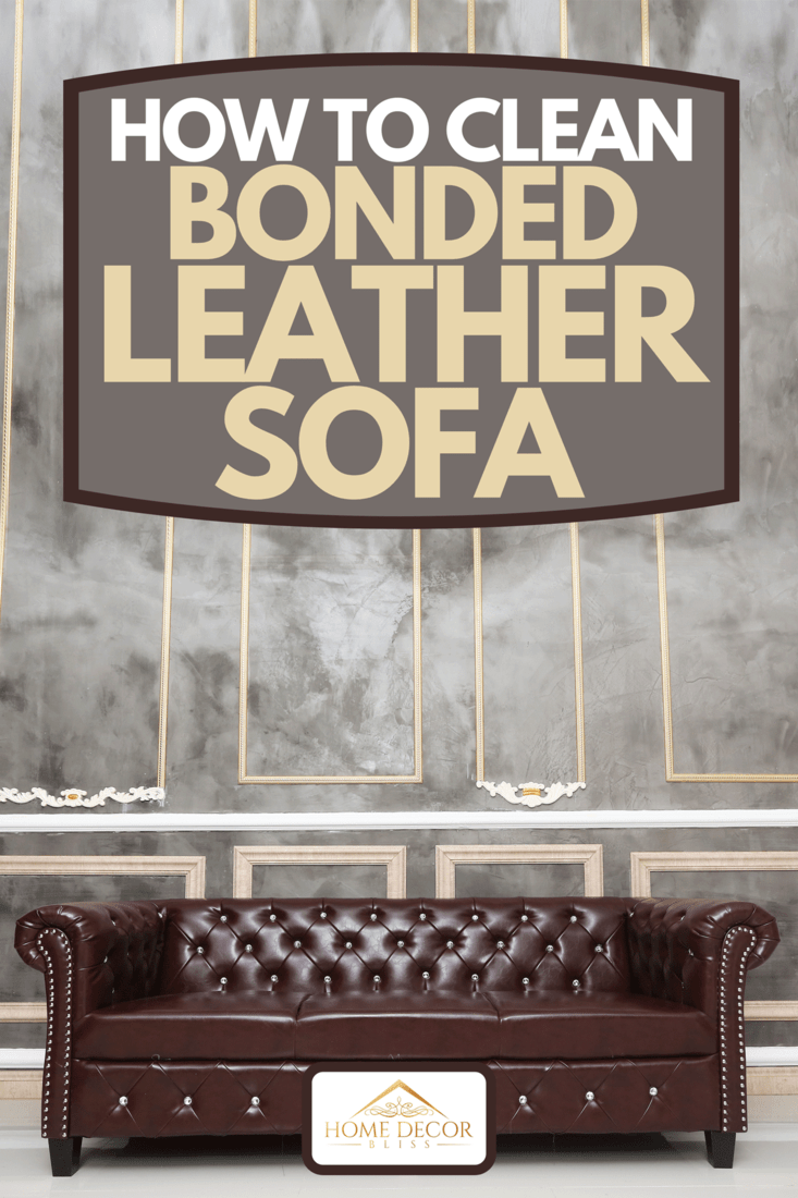 A brown leather sofa in the room, How To Clean Bonded Leather Sofa