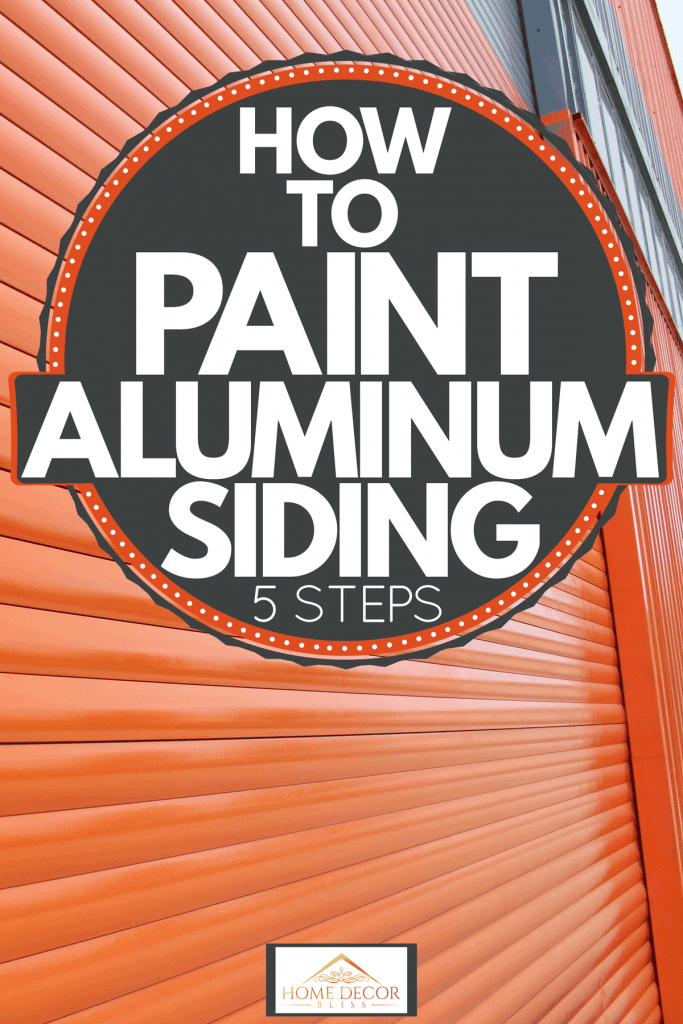 Exterior of a house with orange pre-painted aluminum sidings, How To Paint Aluminum Siding [5 Steps]