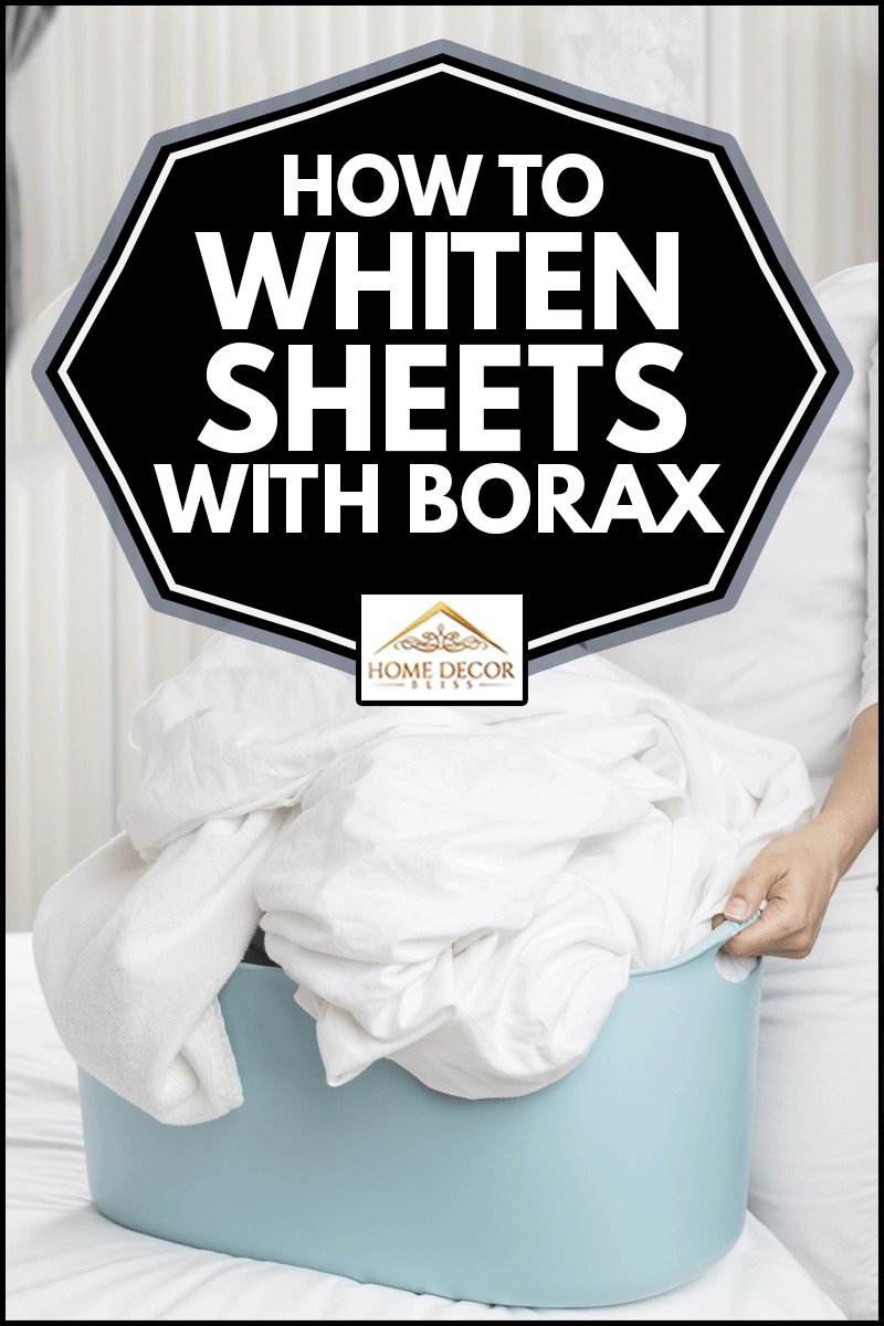 Women holding laundry basket and sheets at home, How To Whiten Sheets With Borax