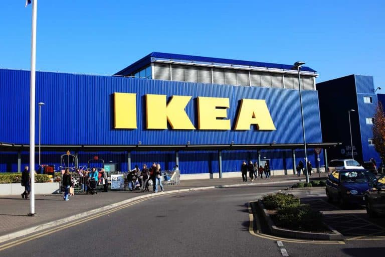A large IKEA logo in IKEA furniture retail store, 15 Ikea Bookshelves You Can Choose From