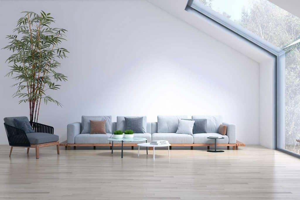 Large luxury modern bright interiors