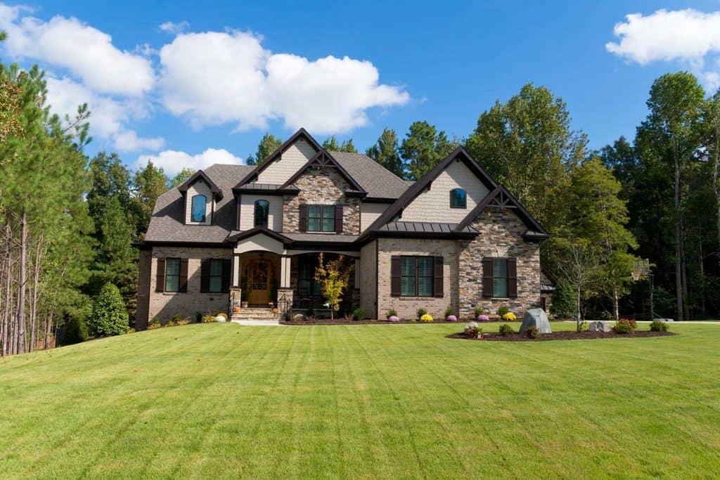 Large suburban house exterior