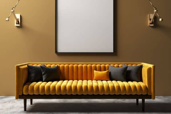 What Goes With A Gold Couch? [Colors And Decor Explored]