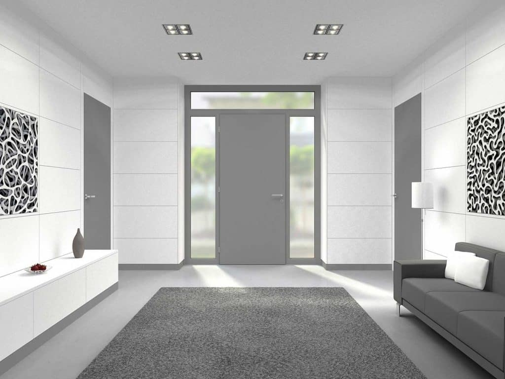 Modern hallway entrance interior