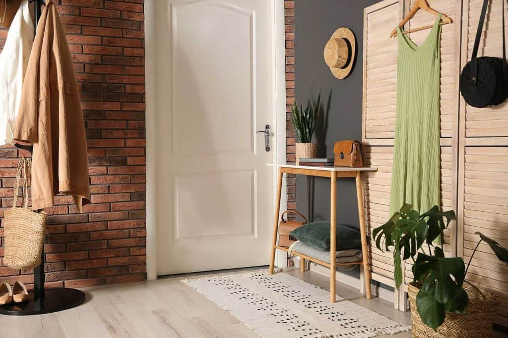 Modern hallway with stylish furniture
