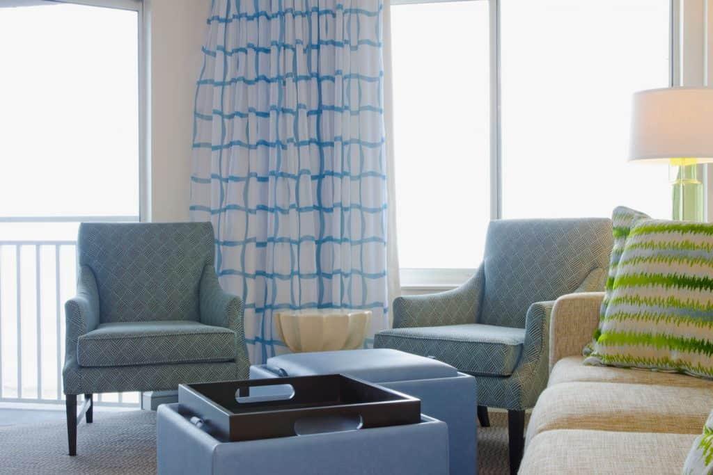 Modern interior of a condominium beach house