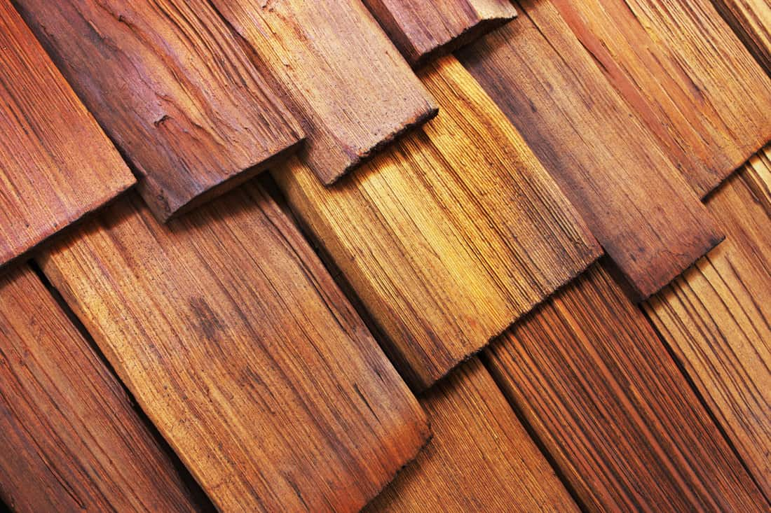 Newly painted Wood Shingle Cedar Roof Architecture