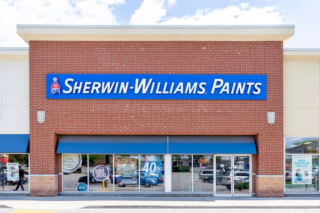 Sherwin-Williams Paint Store storefront in Toronto