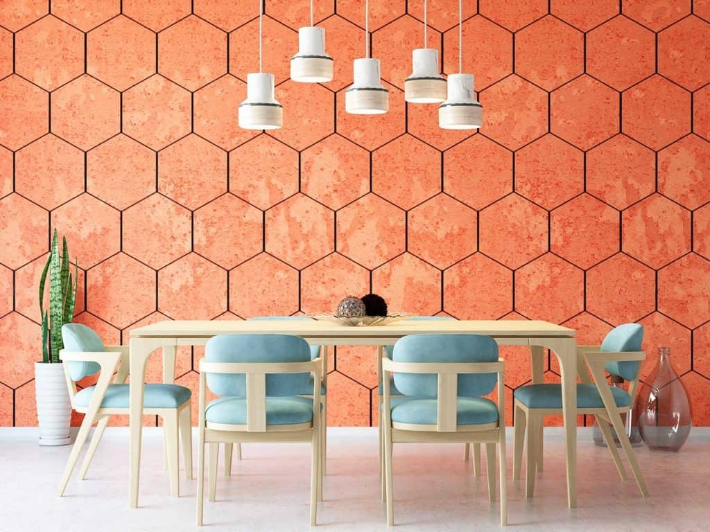 Stylish and modern dining room interior
