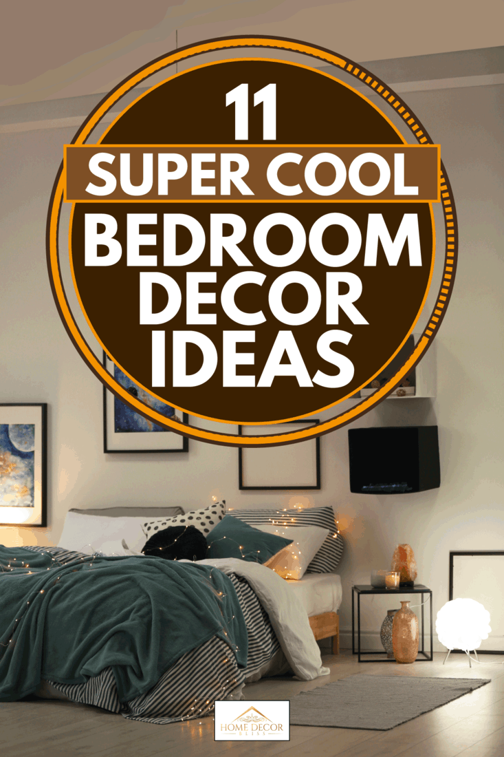 Stylish room interior with comfortable bed and decor, 11 Super Cool Bedroom Decor Ideas
