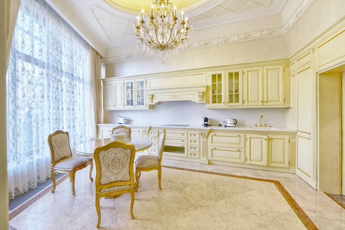 Traditional luxury kitchen interior
