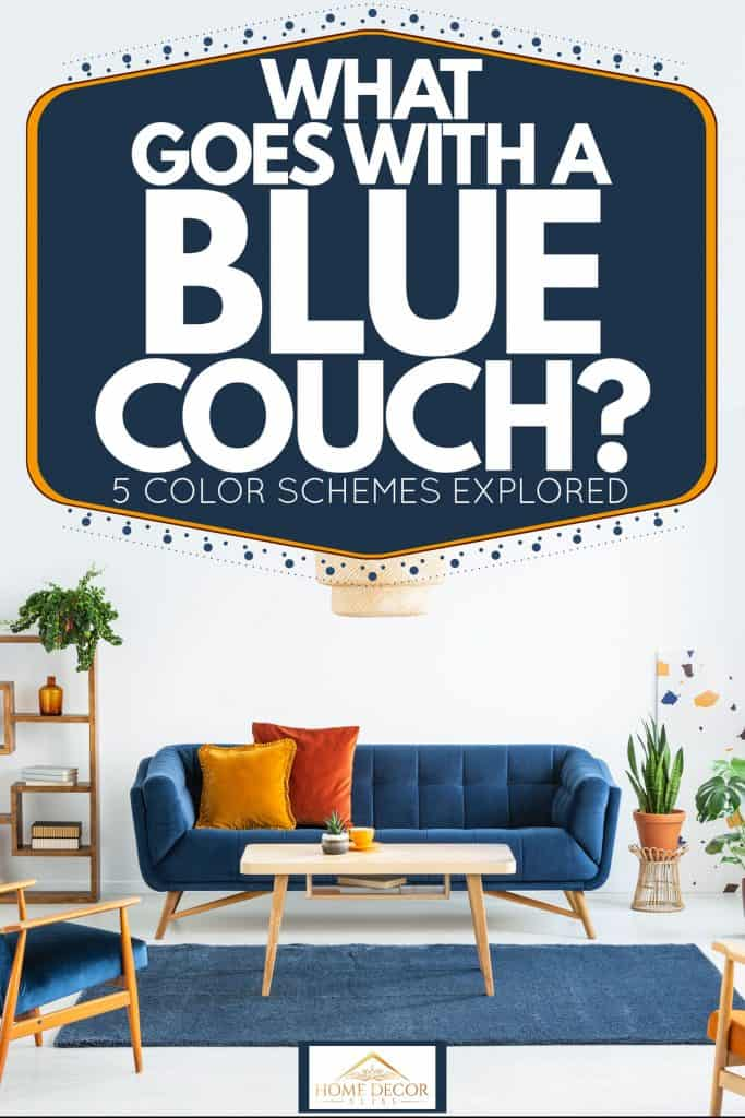 What Goes With A Blue Couch 5 Color Schemes Explored Home Decor Bliss