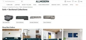 AllModern website couch product page