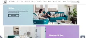 Apt-2B website couch product page