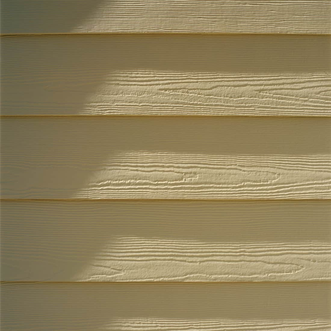 Detail of painted engineered composite wood siding