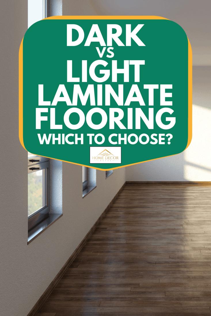 empty living room with dark laminate flooring, Dark Vs Light Laminate Flooring - Which To Choose