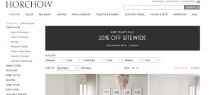 Horchow website couch product page