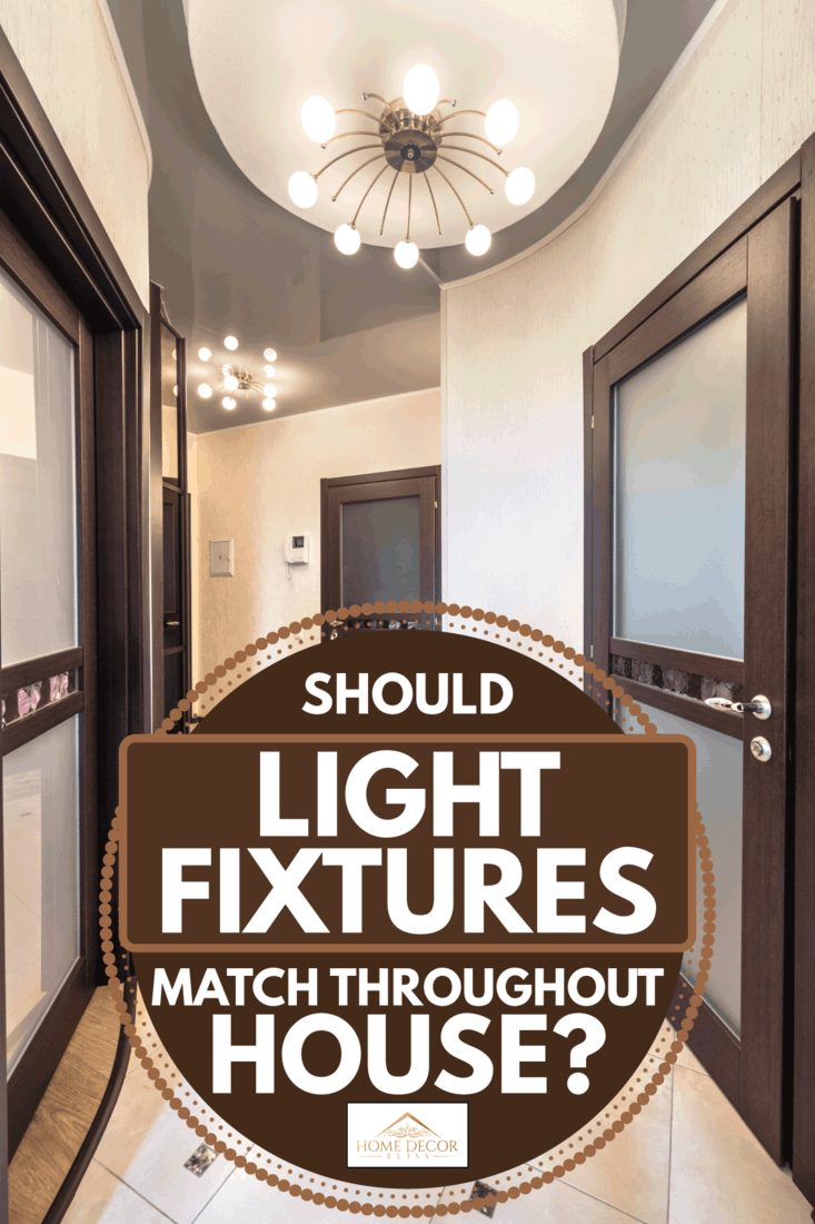 Light fixtures in a home hallway, Should Light Fixtures Match Throughout House?