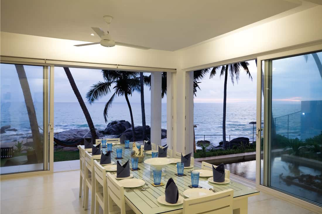 luxury waterfront villa, room with a view