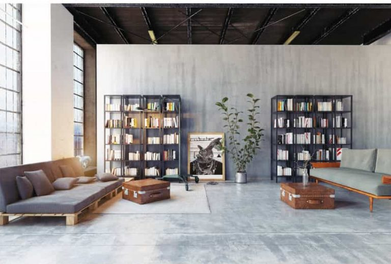 Modern loft living living room with bookshelves, 11 Living Room Wall Decor Ideas