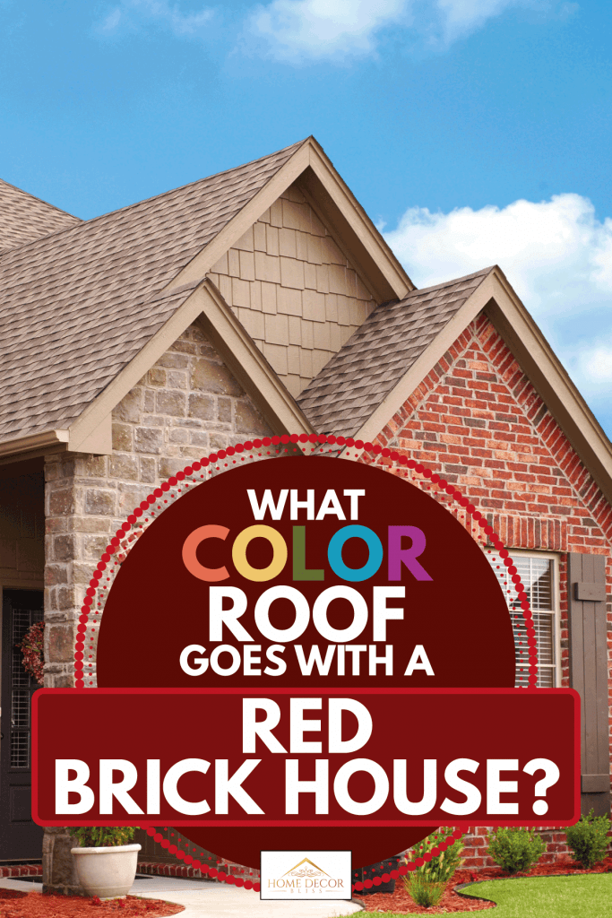 Red brick house with light brown roof, What Color Roof Goes With A Red Brick House?