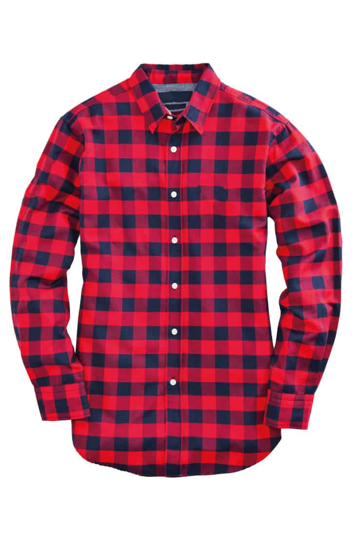Red plaid flannel long sleeves shirt
