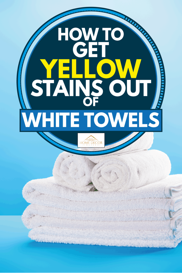 Rolled and stacked clean white towels on blue background, How To Get Yellow Stains Out Of White Towels