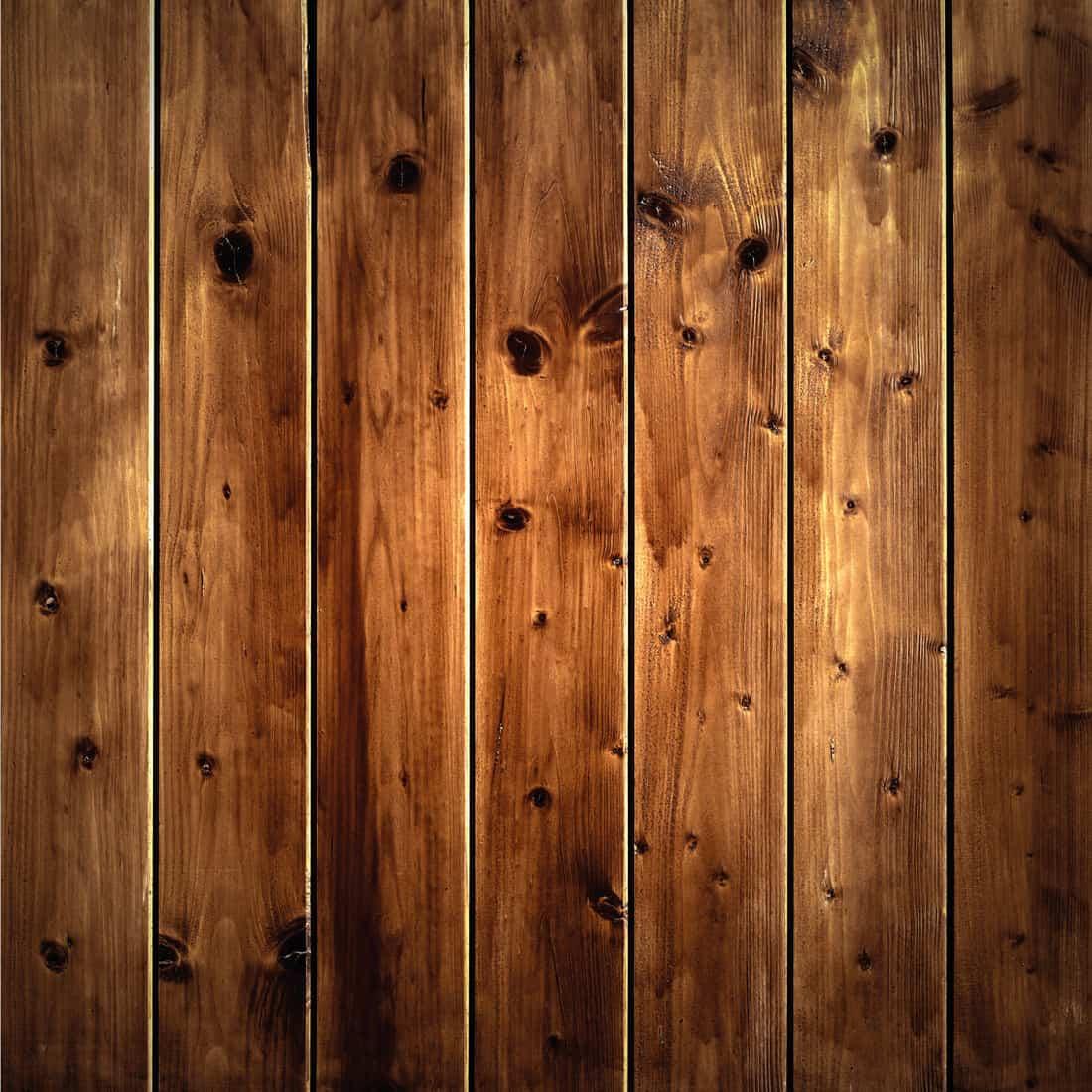 Varnished wood wall panels