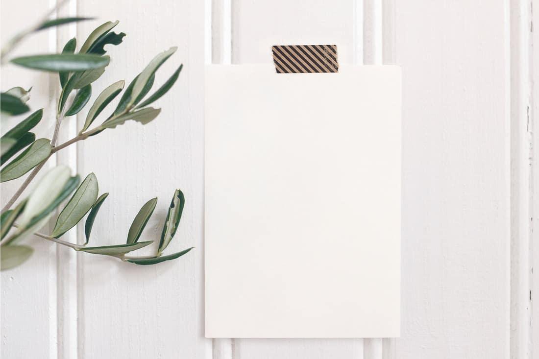 White beadboard taped against a breakfast bar wall