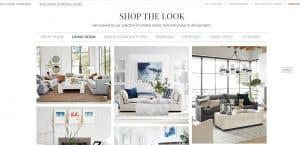 Williams-Sonoma Home website couch product page