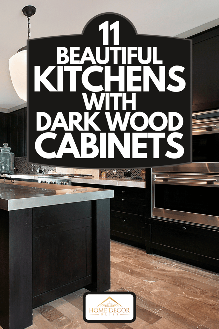 Kitchen with dark wood cabinetry, 11 Beautiful Kitchens With Dark Wood Cabinets