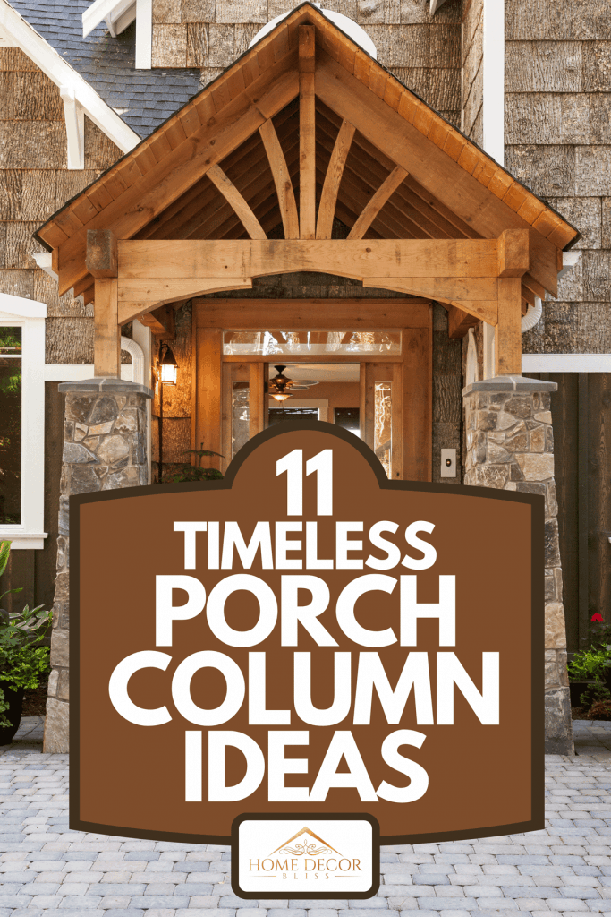 New luxury home exterior patio and front door with arch and columns, 11 Timeless Porch Column Ideas