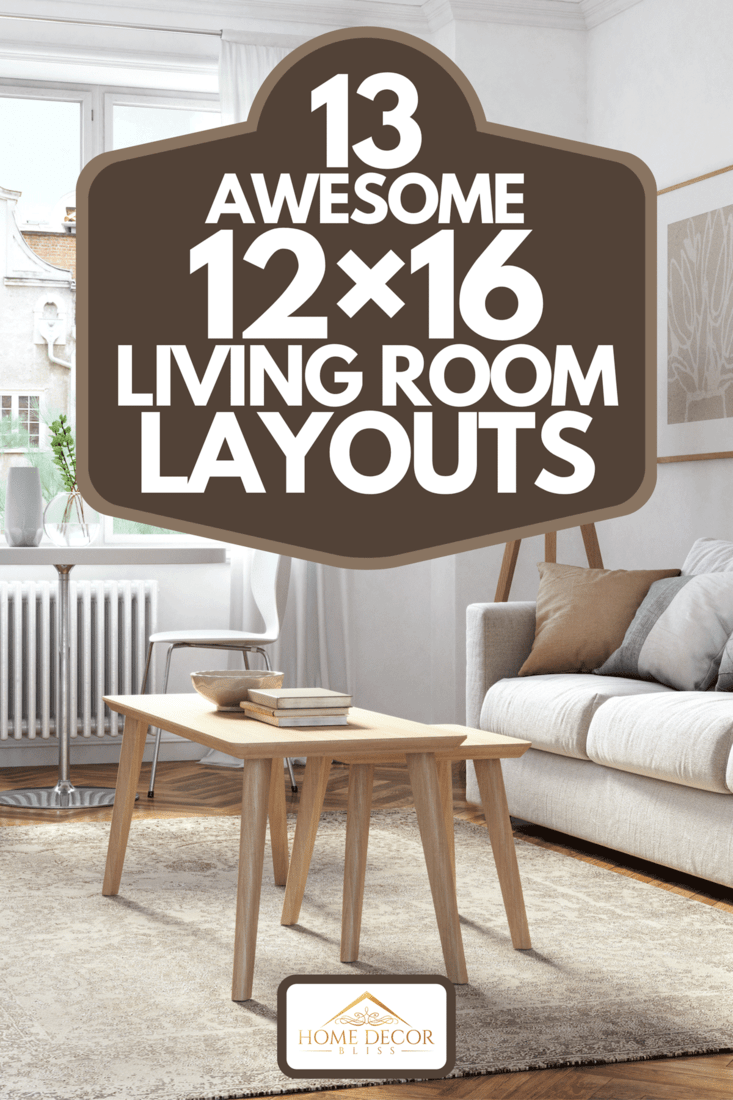 Scandinavian interior design living room with beige and brown colored furniture and wooden elements, 13 Awesome 12x16 Living Room Layouts
