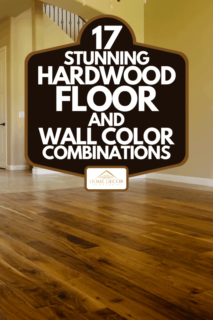 A dark stained hardwood flooring in kitchen area of new home, 17 Stunning Hardwood Floor And Wall Color Combinations