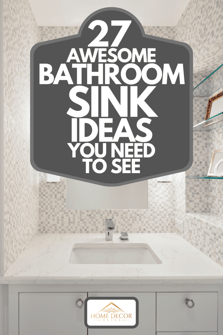 Beautiful remodeled bathroom in a condominium with white cabinets, 27 Awesome Bathroom Sink Ideas You Need To See