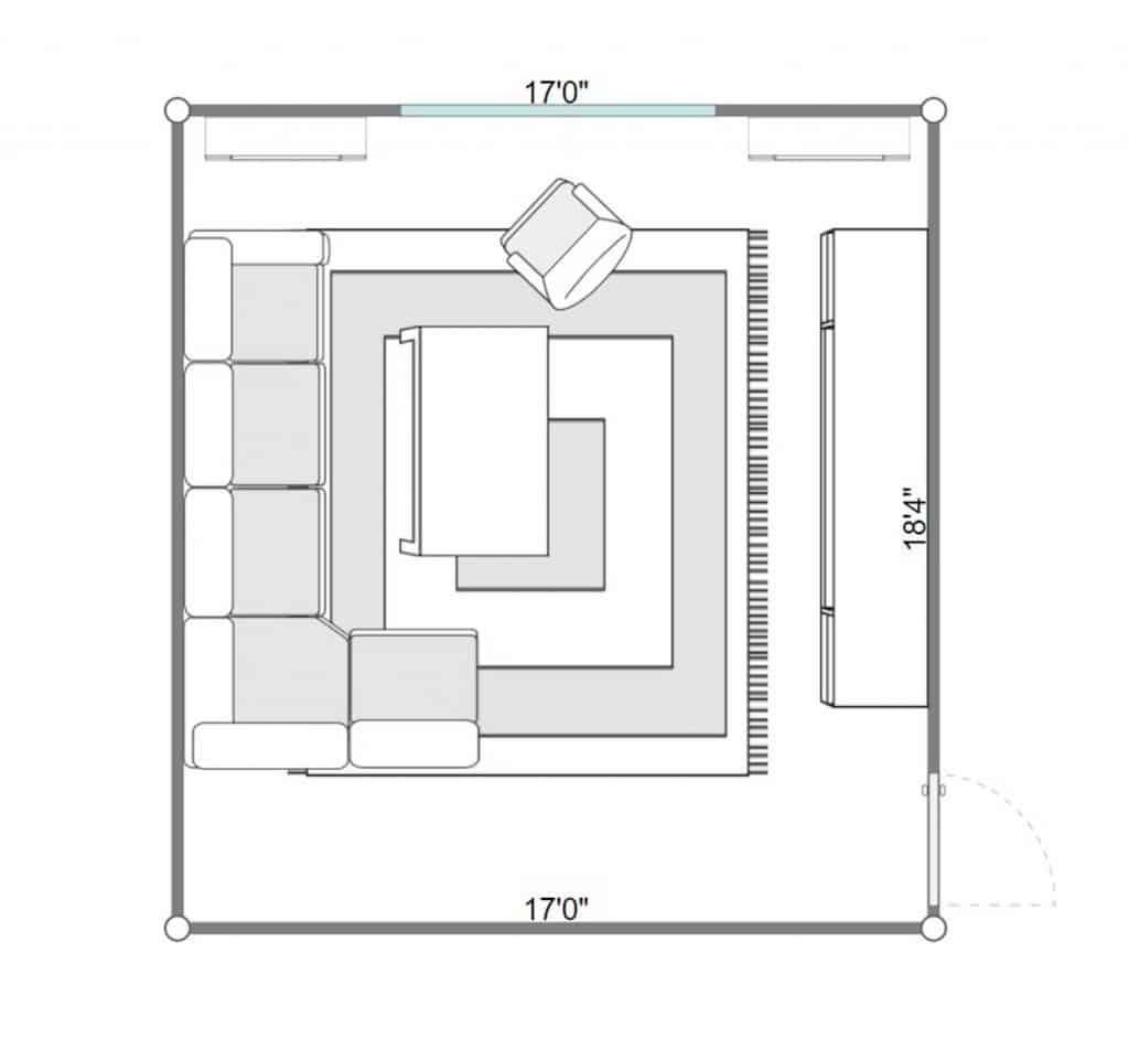 2D floorplan of a bright interior of living room with corner sofa and carpet rug on floor.jpg