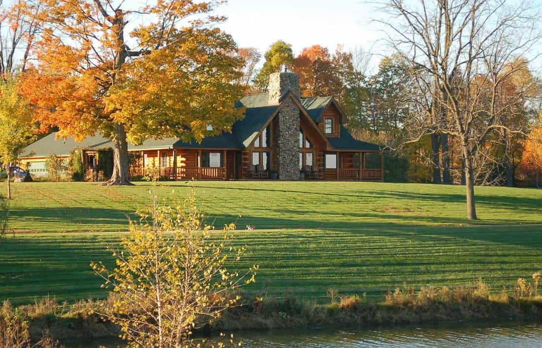 A beautiful modern country home with large yard