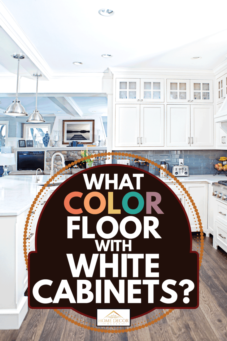A contemporary kitchen with white cabinets and brown floor. What Color Floor With White Cabinets