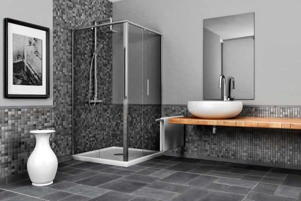 15 Great Gray-Tiled Bathroom Ideas