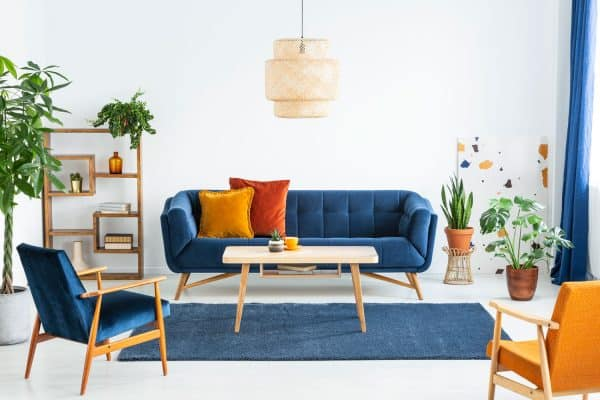 What Goes With A Blue Couch? [5 Color Schemes Explored]