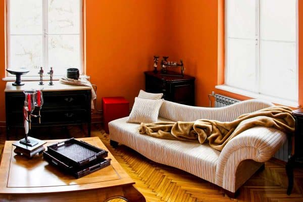 23 Eye-Catching Orange Living Room Ideas